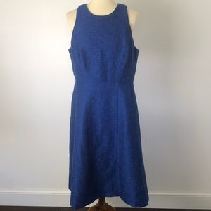 Banana Republic Blue Tweed Dress NWT 14